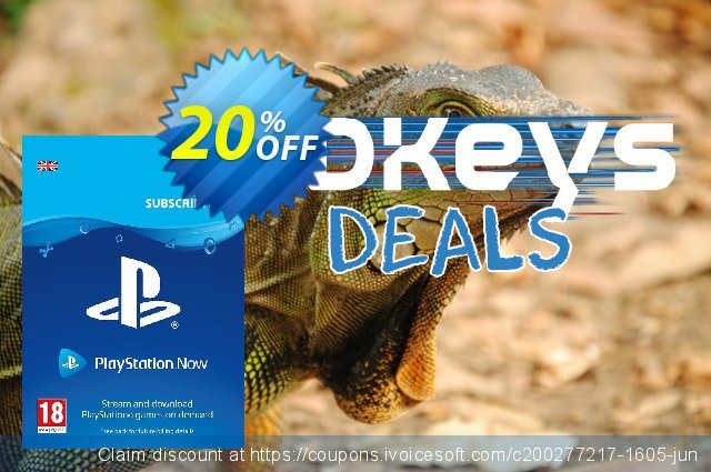 PlayStation Now 12 Month Subscription (UK) discount 20% OFF, 2020 Halloween offering sales