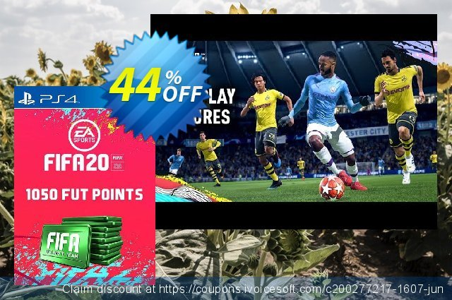 1050 FIFA 20 Ultimate Team Points PS4 (Austria) discount 10% OFF, 2020 Halloween promotions