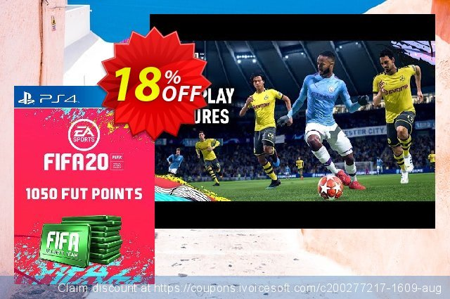 1050 FIFA 20 Ultimate Team Points PS4 (Italy) discount 10% OFF, 2020 Back to School season sales