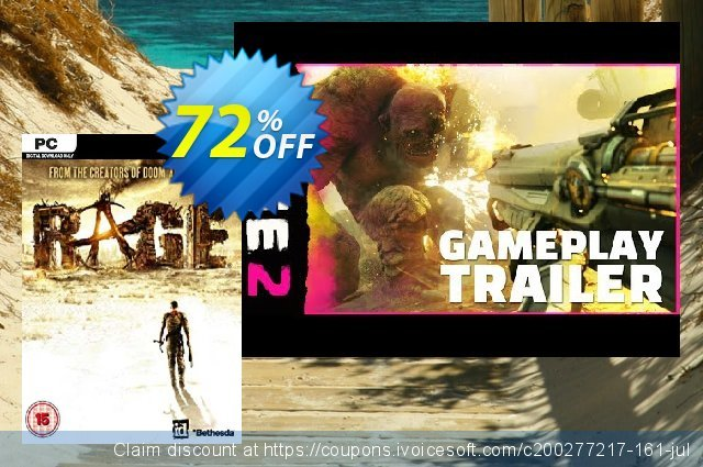 RAGE (PC) discount 81% OFF, 2021 Mother's Day offering sales. RAGE (PC) Deal