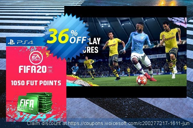 1050 FIFA 20 Ultimate Team Points PS4 (Spain) discount 10% OFF, 2020 Student deals offer