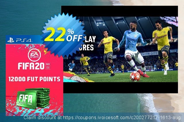 12000 FIFA 20 Ultimate Team Points PS4 (Germany) discount 13% OFF, 2020 Exclusive Teacher discount offering discount