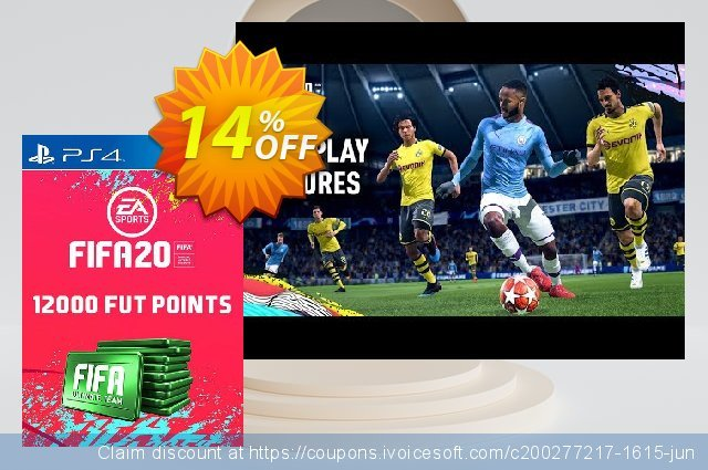 12000 FIFA 20 Ultimate Team Points PS4 PSN Code - UK account 令人难以置信的 扣头 软件截图