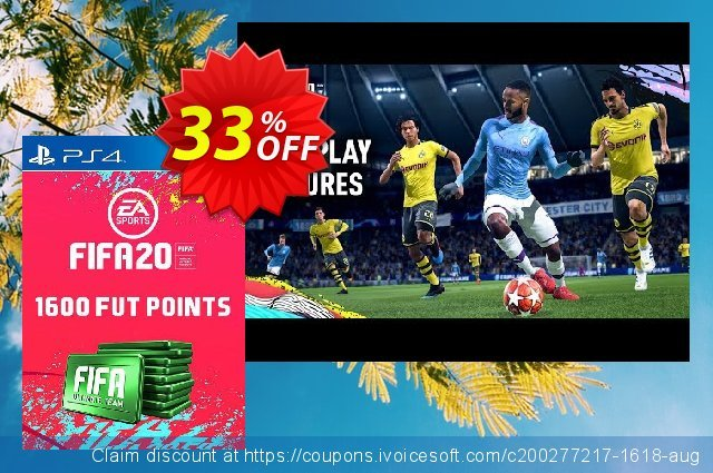 1600 FIFA 20 Ultimate Team Points PS4 (Germany) discount 10% OFF, 2020 College Student deals offering sales