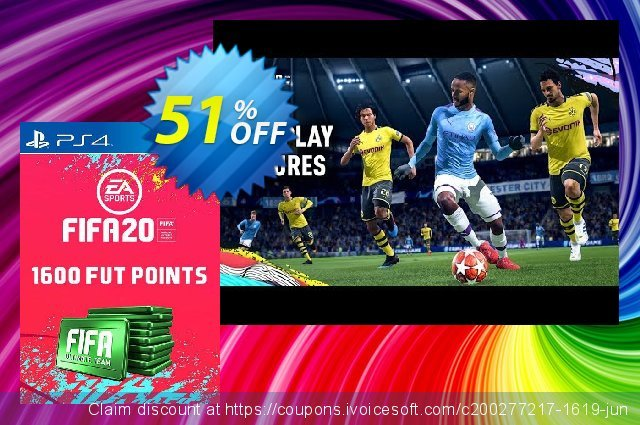 1600 FIFA 20 Ultimate Team Points PS4 (Italy) discount 14% OFF, 2020 College Student deals offering sales