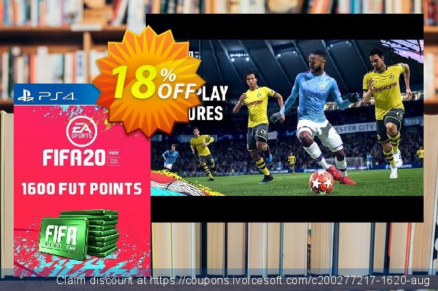1600 FIFA 20 Ultimate Team Points PS4 PSN Code - UK account discount 13% OFF, 2020 College Student deals offering sales