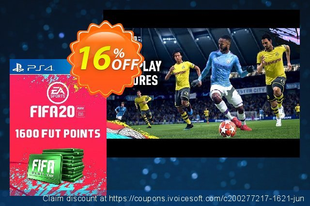 1600 FIFA 20 Ultimate Team Points PS4 (Spain) discount 10% OFF, 2020 Back to School Promos offering sales