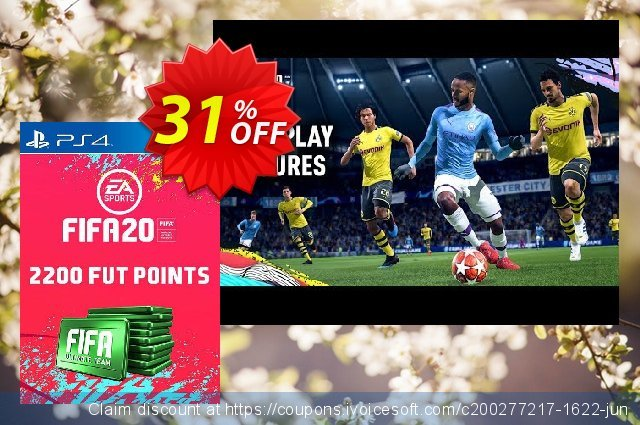 2200 FIFA 20 Ultimate Team Points PS4 (Austria) discount 10% OFF, 2020 Back to School promotion offering sales