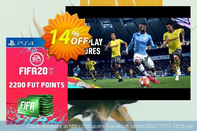 2200 FIFA 20 Ultimate Team Points PS4 (Spain) discount 13% OFF, 2020 Back to School deals discounts