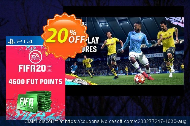 4600 FIFA 20 Ultimate Team Points PS4 PSN Code - UK account discount 14% OFF, 2020 Back to School season offer