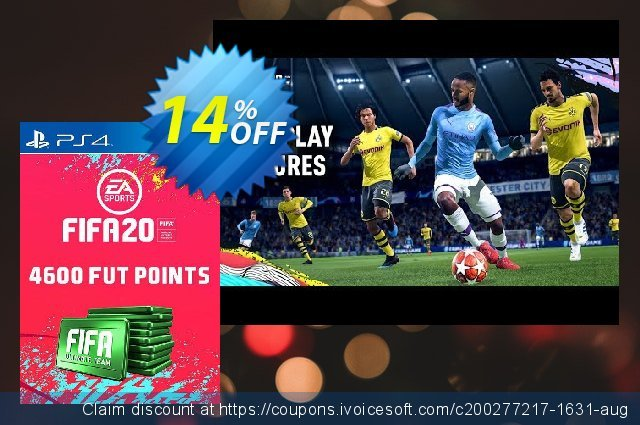 4600 FIFA 20 Ultimate Team Points PS4 (Spain) discount 10% OFF, 2020 Exclusive Student deals discount