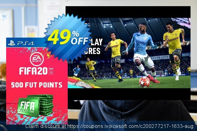 500 FIFA 20 Ultimate Team Points PS4 (Germany) discount 10% OFF, 2020 Exclusive Student discount offering sales