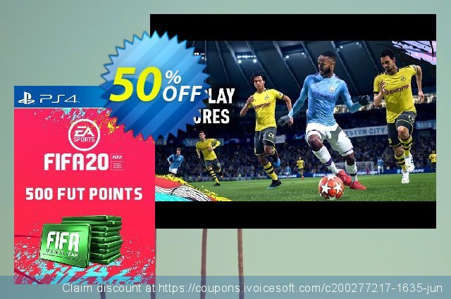 500 FIFA 20 Ultimate Team Points PS4 PSN Code - UK account discount 10% OFF, 2020 University Student offer promo sales