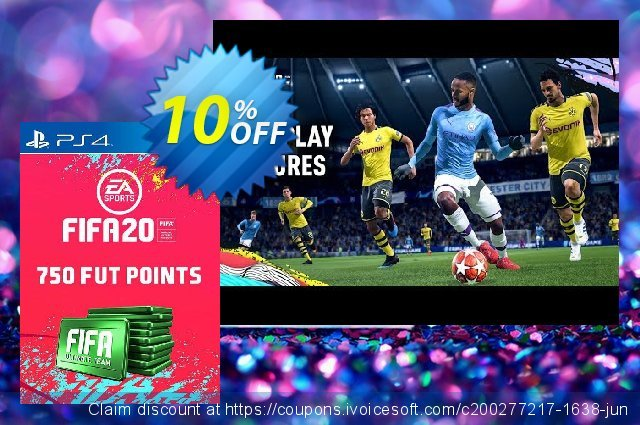 750 FIFA 20 Ultimate Team Points PS4 (Germany) discount 11% OFF, 2020 College Student deals offering sales