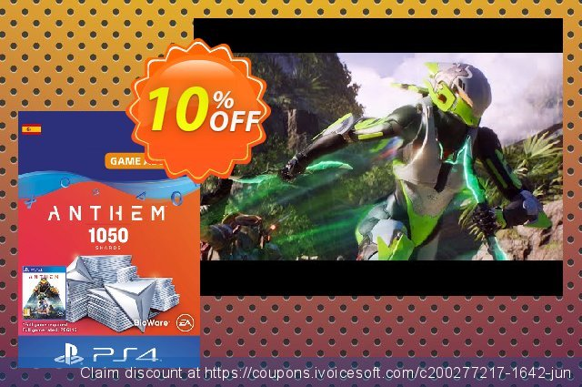Anthem 1050 Shards PS4 (Spain) discount 10% OFF, 2020 Halloween offering sales