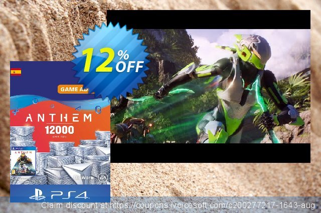 Anthem 12000 Shards PS4 (Spain) discount 12% OFF, 2020 Back to School promotion offering sales