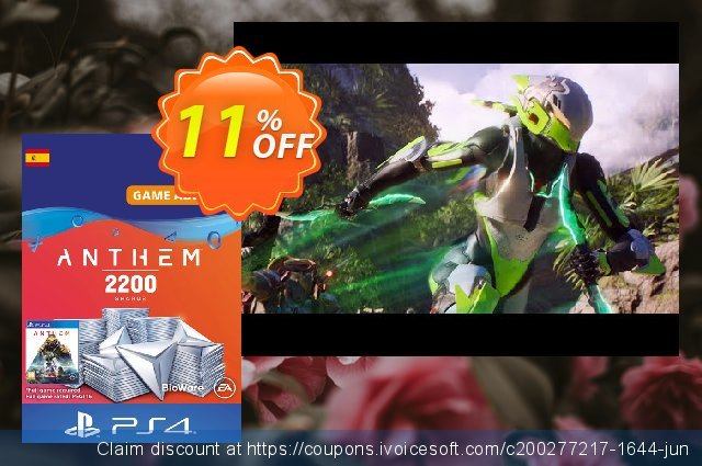 Anthem 2200 Shards PS4 (Spain) discount 11% OFF, 2020 Back to School promo offering sales