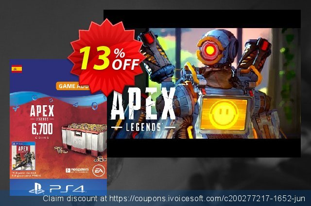 Apex Legends 6700 Coins PS4 (Spain) discount 13% OFF, 2020 Exclusive Student deals offering sales