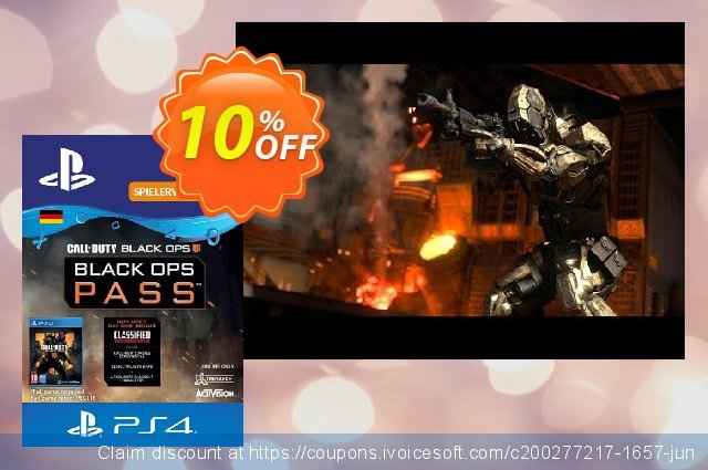 Call of Duty Black Ops 4 Pass PS4 (Germany) discount 10% OFF, 2020 University Student deals offering sales
