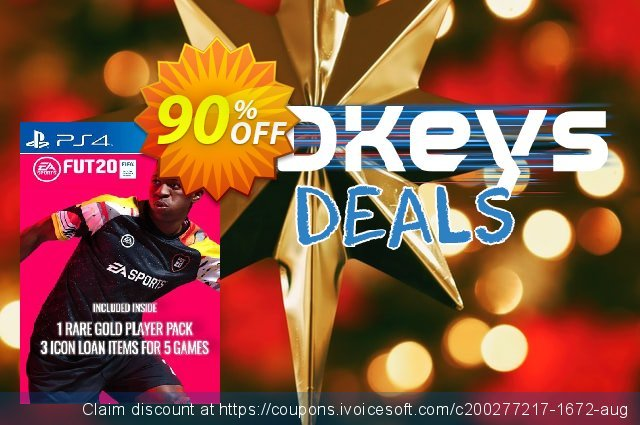 FIFA 20 - 1 Rare Players Pack + 3 Loan ICON Pack PS4 (EU) discount 60% OFF, 2020 Halloween promo sales