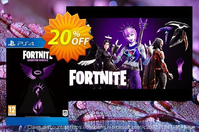 Fortnite: Darkfire Bundle PS4 discount 10% OFF, 2020 Teacher deals offering sales