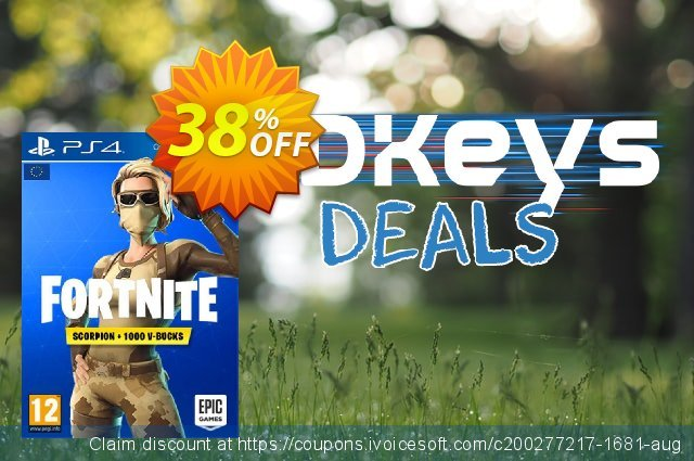 Fortnite Scorpion Skin + 1000 V-Bucks PS4 (EU) discount 42% OFF, 2020 College Student deals offering sales