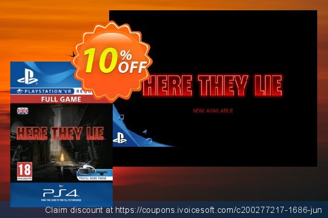 Here They Lie VR PS4 discount 10% OFF, 2020 Back to School promo deals