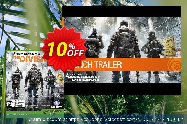 The Division Xbox Weapon Skin DLC discount 10% OFF, 2021 Mother's Day promotions. The Division Xbox Weapon Skin DLC Deal