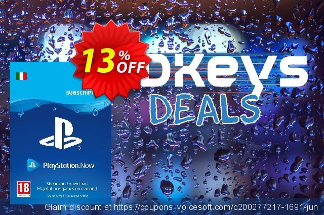 PlayStation Now 3 Month Subscription (Italy) discount 13% OFF, 2020 Back to School offer offering deals