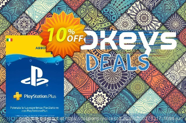 Playstation Plus - 1 Month Subscription (Italy) discount 10% OFF, 2020 Halloween offering sales