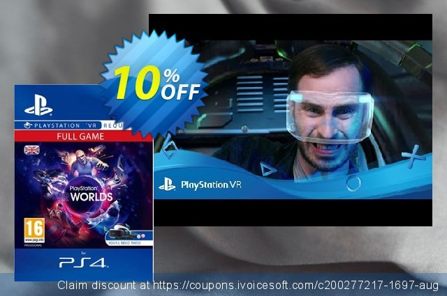 PlayStation VR Worlds PS4 discount 10% OFF, 2020 Exclusive Teacher discount offering sales