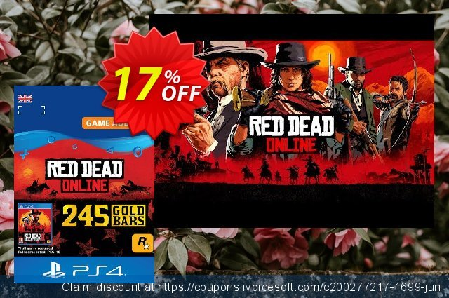 Red Dead Online: 245 Gold Bars PS4 (UK) discount 17% OFF, 2020 University Student deals offering sales