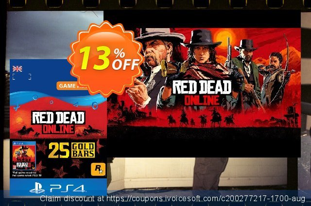 Red Dead Online: 25 Gold Bars PS4 (UK) discount 13% OFF, 2020 Teacher deals offering sales