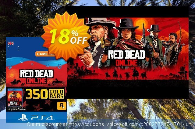 Red Dead Online: 350 Gold Bars PS4 (UK) discount 18% OFF, 2020 College Student deals offering sales