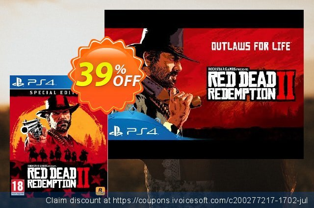 Red Dead Redemption 2 Special Edition PS4 US/CA discount 10% OFF, 2020 College Student deals discounts