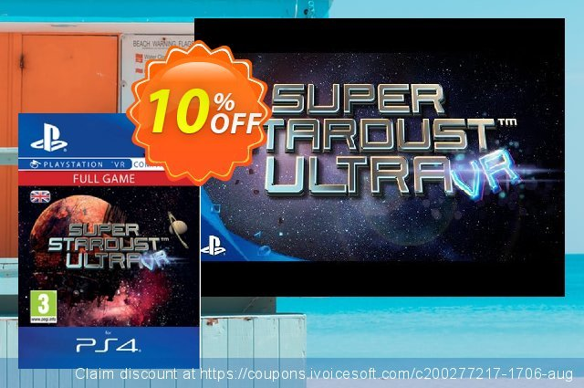 Super Stardust Ultra VR PS4 discount 10% OFF, 2020 Back to School promotion offer