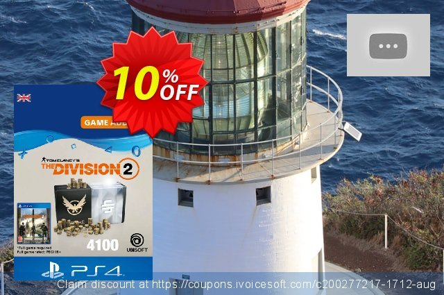 Tom Clancy's The Division 2 PS4 - 4100 Premium Credits Pack discount 10% OFF, 2020 Back to School offer promo