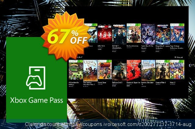 14 day Xbox Game Pass Xbox One discount 67% OFF, 2020 Back to School season offering sales