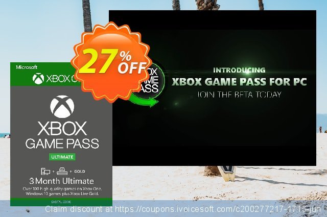 27  3 Month Xbox Game Pass Ultimate Xbox One  Pc  -6260