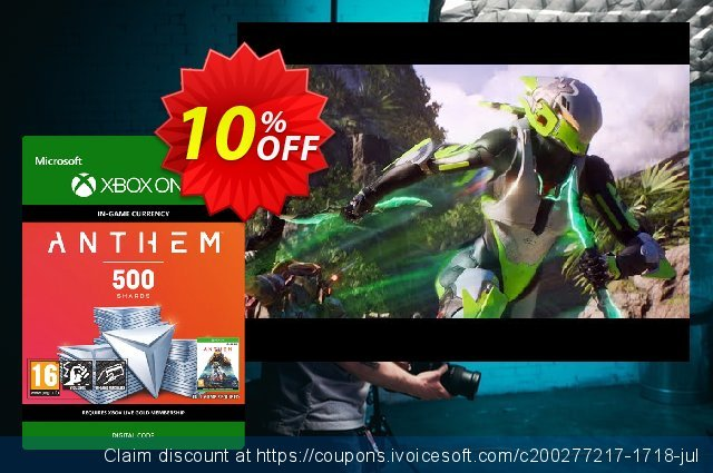 Anthem 500 Shards Pack Xbox One discount 10% OFF, 2020 Exclusive Teacher discount offering sales