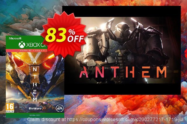 Anthem Legion of Dawn Xbox One discount 75% OFF, 2020 University Student offer offering sales