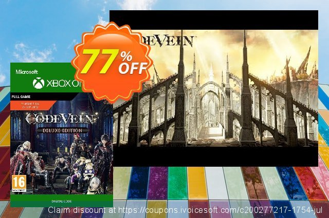 Code Vein: Deluxe Edtion Xbox One discount 13% OFF, 2020 Back to School offer offering sales