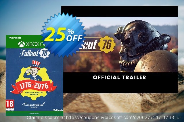 Fallout 76 Tricentennial Edition Xbox One discount 16% OFF, 2020 Halloween promo