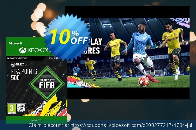 FIFA 20 - 500 FUT Points Xbox One discount 10% OFF, 2020 Teacher deals offering discount