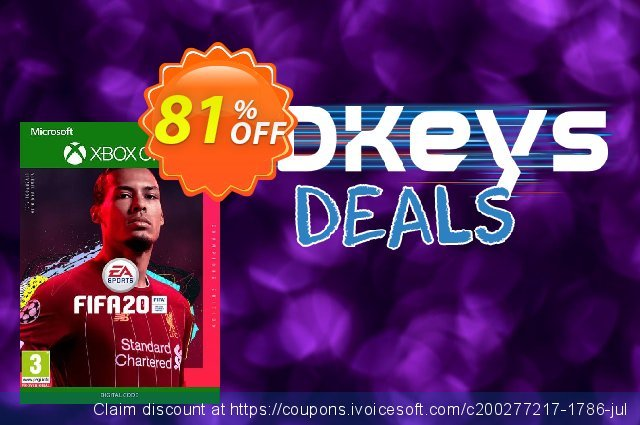 FIFA 20: Champions Edition Xbox One discount 50% OFF, 2020 College Student deals offering deals