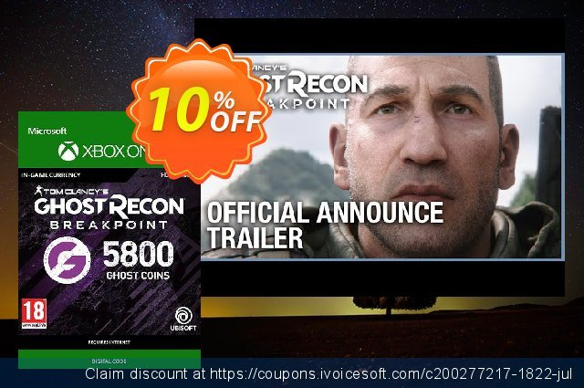 Ghost Recon Breakpoint: 5800 Ghost Coins Xbox One discount 10% OFF, 2020 Exclusive Student discount offering discount
