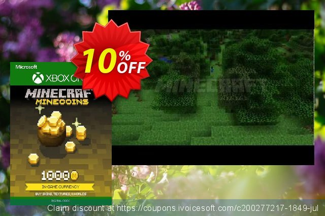 Minecraft 1000 Minecoins Xbox One discount 14% OFF, 2020 College Student deals offering sales