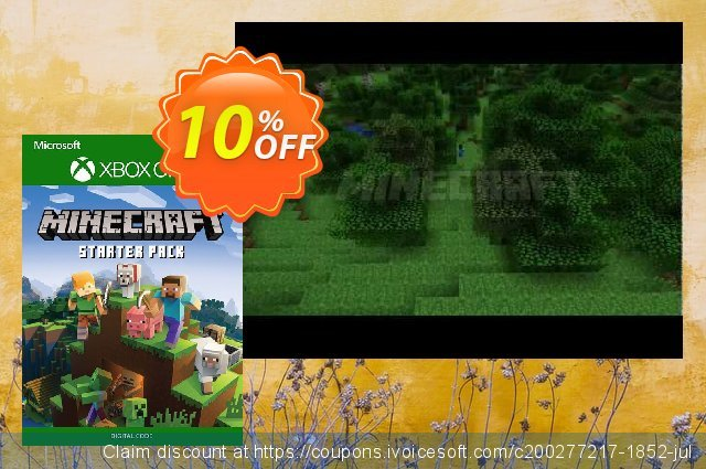 Minecraft Starter Pack Xbox One discount 60% OFF, 2020 Halloween offering sales