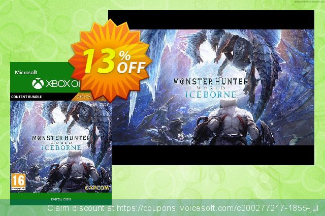 Monster Hunter World: Iceborne Deluxe Edition Xbox One discount 13% OFF, 2020 Halloween sales