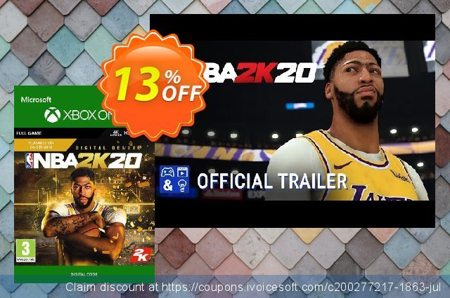 NBA 2K20: Deluxe Edition Xbox One discount 13% OFF, 2020 Halloween promo